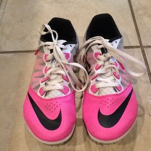 Women's Pink Nike Track And Field Shoes
